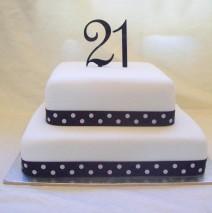 Square 21st Cake $295