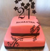 Musical 21st Cake $349