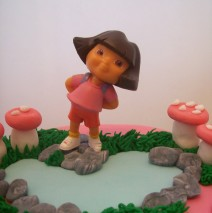 Pink Dora Cake 8 inch $195