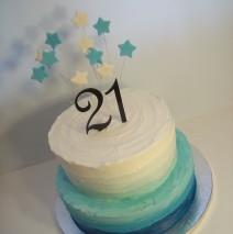 Ombre 21st Cake $295