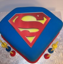 SuperMan Logo Cake 8 inch $120