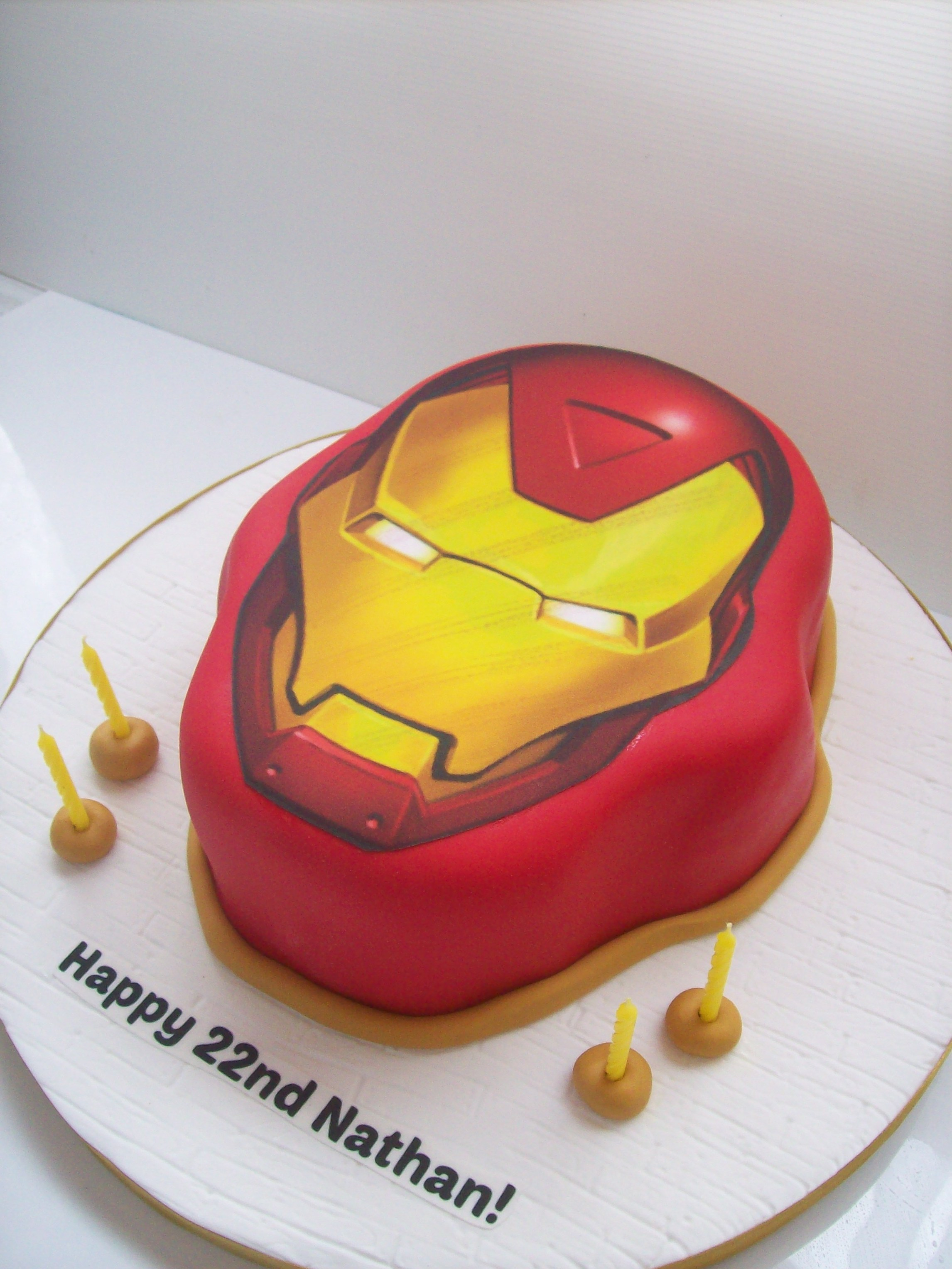 Iron Man Birthday Cake Design