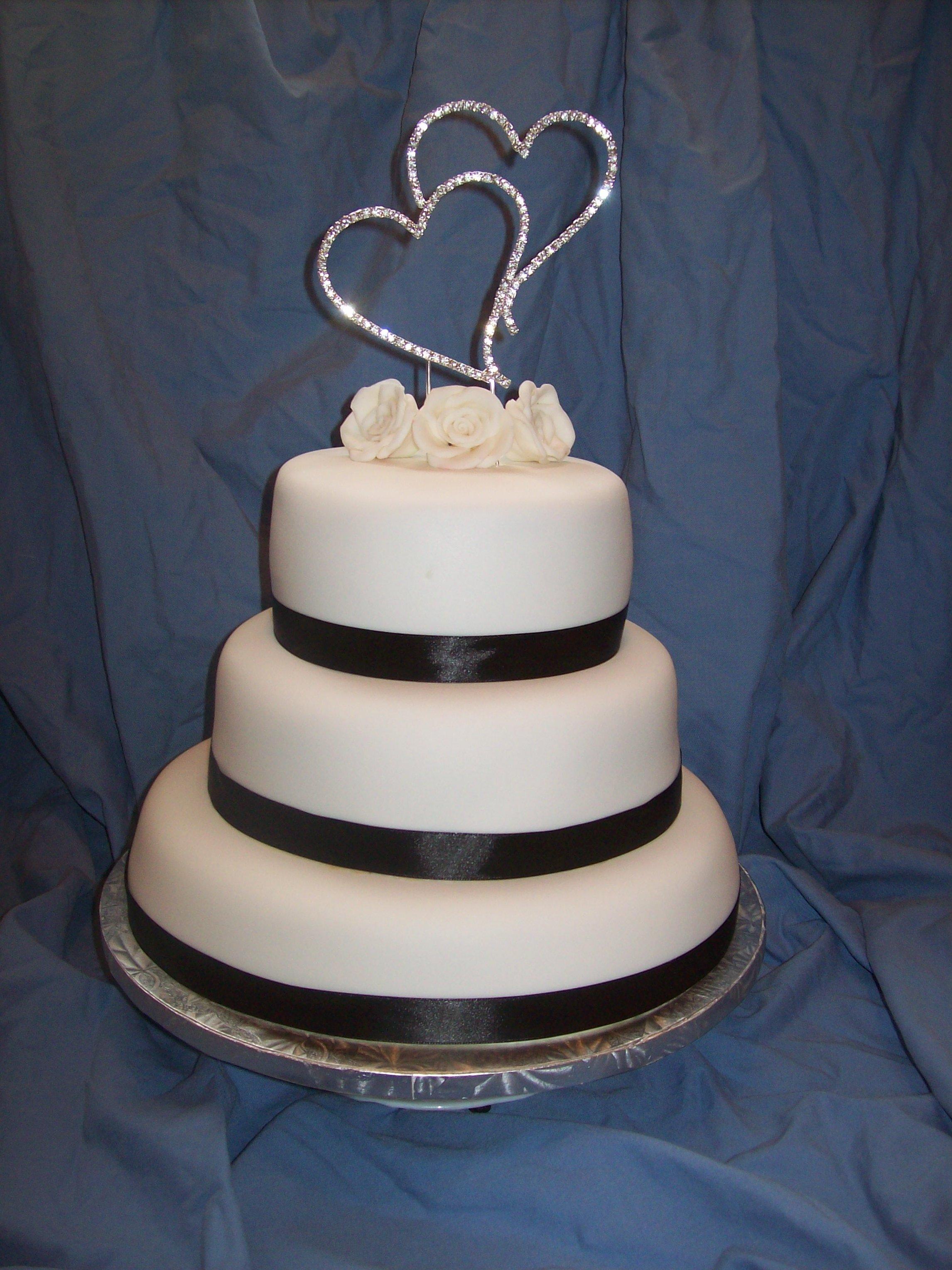 3 tier Bling Wedding Cake $650 • Temptation Cakes