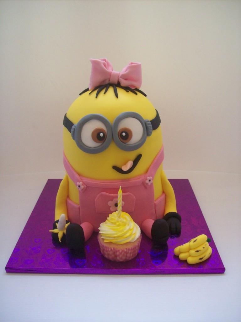 Girl Minion Cake USD295   Temptation Cakes Temptation Cakes