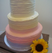 Pastels Ombre Wedding Cake $595