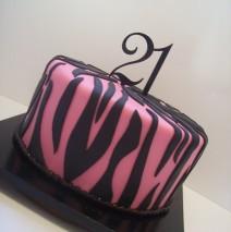 Pink Tiger Print 21st Cake $195