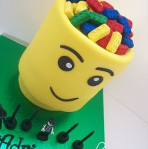 3D Lego Head Cake  $249 (Figurines supplied by client)