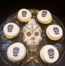 Sugar Skull Mini Cupcakes $3.50 each
