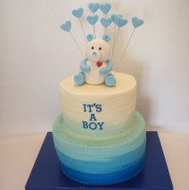 Baby Shower Ombre Cake $230