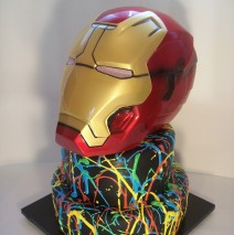 Iron Man Cake $349 (Mask supplied by client)