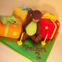 3D Fondant Barney & 3 Cakes $349