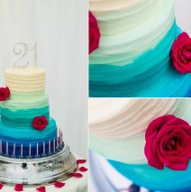 21st Ombre Cake $550