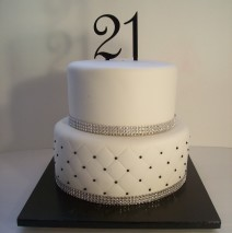 Quilted 21st Cake $325
