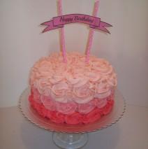 Ombre Rosette cake $145
