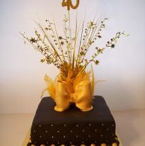 Gold & Black 40 th Cake $250