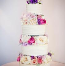 Wedding Cake (silk flowers) $695