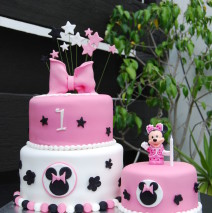 Deconstructed Minnie Mouse Cake $450