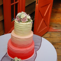 Ombre Wedding Cake $595