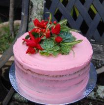 Pink Semi Naked Cake $195