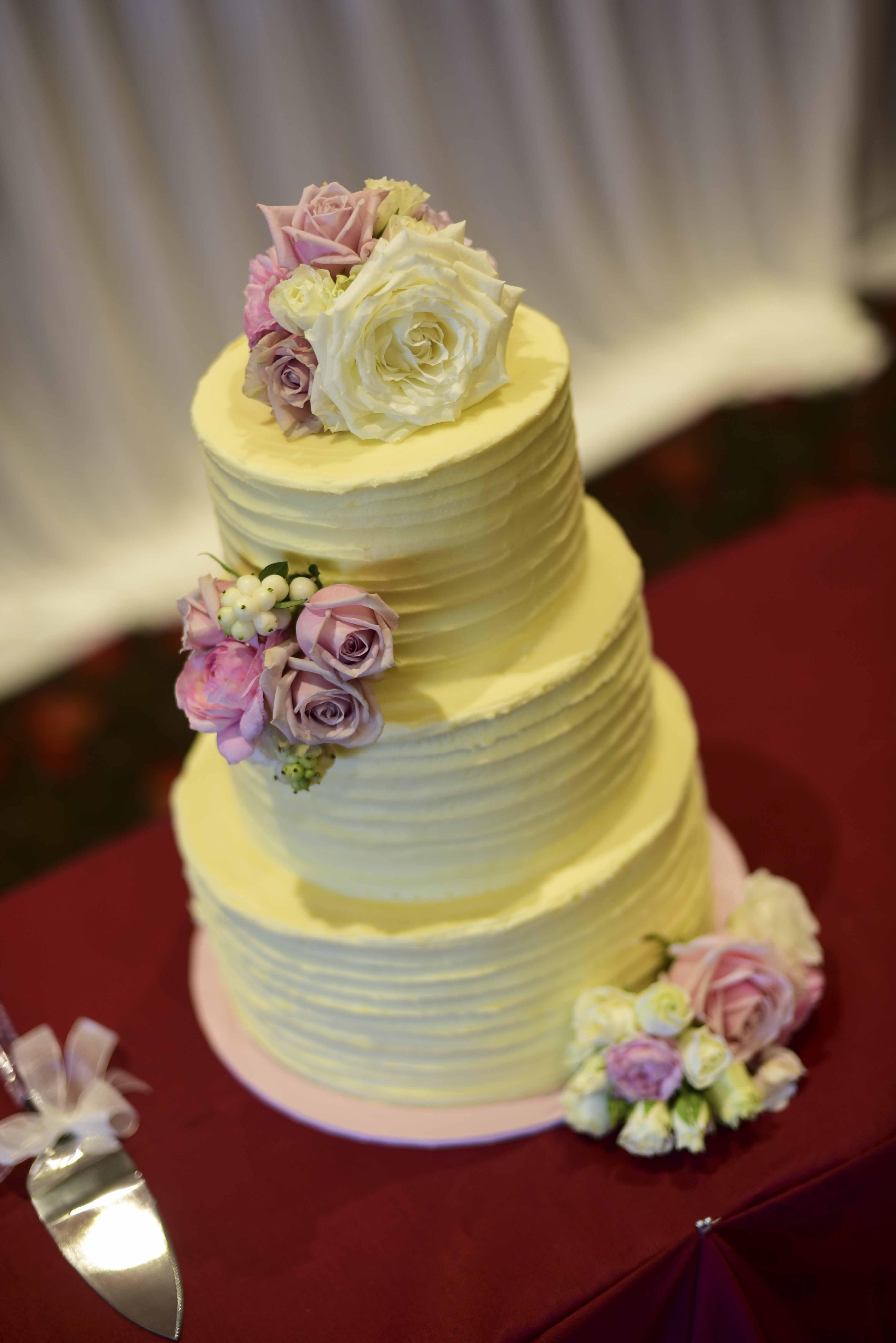 Buttercream Wedding Cake $550 • Temptation Cakes | Temptation Cakes