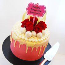 Pink Ruffalo Cake $195
