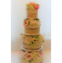 Semi Naked Wedding Cake $695