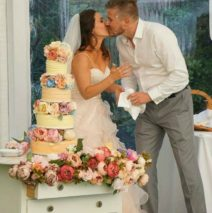 Rustic Wedding Cake $695 (block ombre)