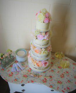 Semi Naked Wedding Cake $695