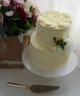 Rosette Petite Wedding Cake $295