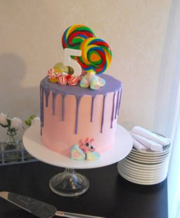 Candy Chaos Drizzle Cake $195