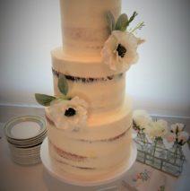 Semi Naked Wedding Cake $650