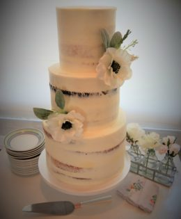 Semi Naked Wedding Cake $650