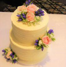 Fresh Flowers Wedding Cake $450