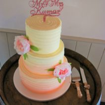 Blush Ombre Wedding Cake $595