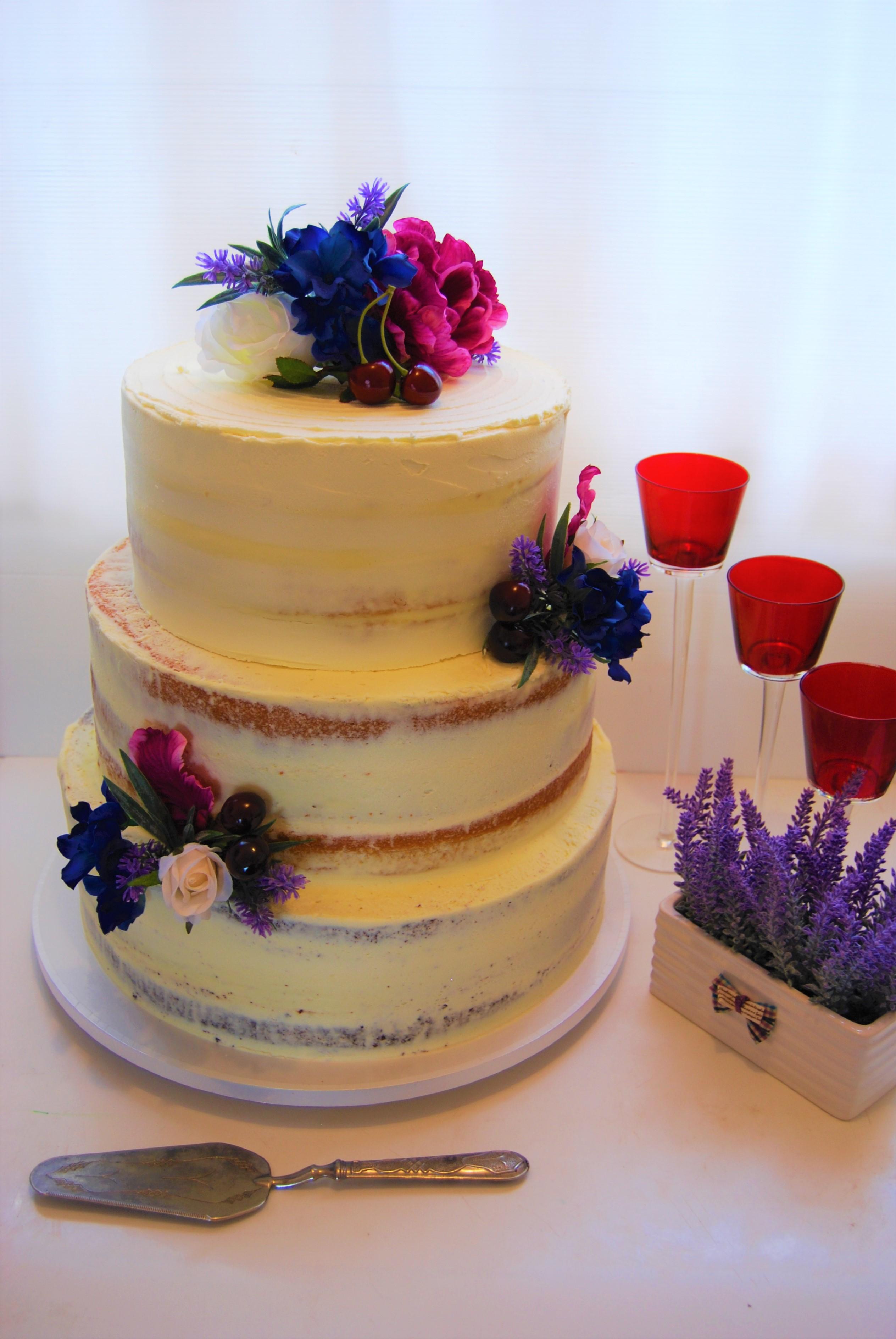Semi Naked Cake $695 (200 pax) • Temptation Cakes