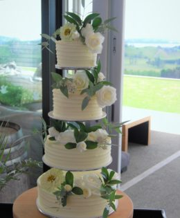 4 Tier Wedding Cake $595 (flowers not included)