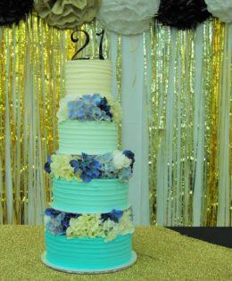 21st 4 Tier Cake $695