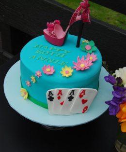 Stiletto Shoe Casino Cake $295