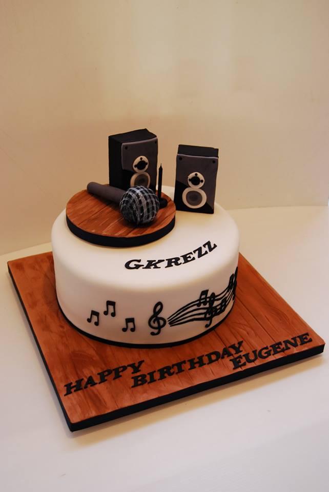 Microphone Cake 295 Temptation Cakes Temptation Cakes