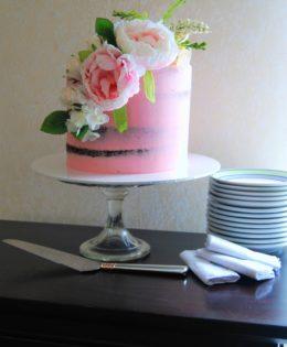 Pink Semi Naked Cake $250