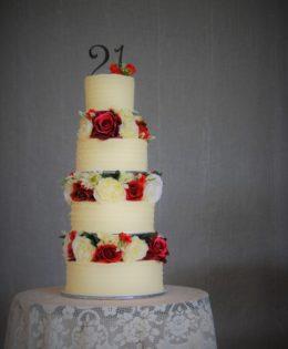 4 Tier 21st Cake $695