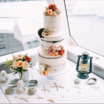 Semi Naked Wedding Cake $595