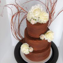 Rustic Ganache Wedding Cake $695
