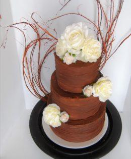 Rustic Ganache Wedding Cake $695