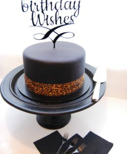 Black Birthday Cake $250