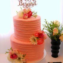 Pink Wedding Cake $450
