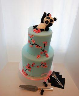 Panda Cherry Blossom Cake $550