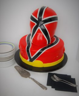Red Power Rangers Cake $395