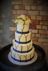 woodlands wedding cake