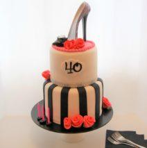40th Birthday Cake High Heel $350